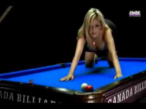 сексуальная девушка и бильярд sexy girl and billiards