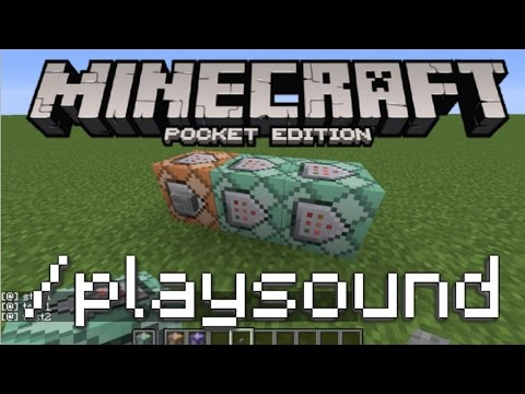 Minecraft PE - How To Use The Playsound Command!