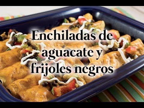 Enchiladas de aguacate y frijoles negros