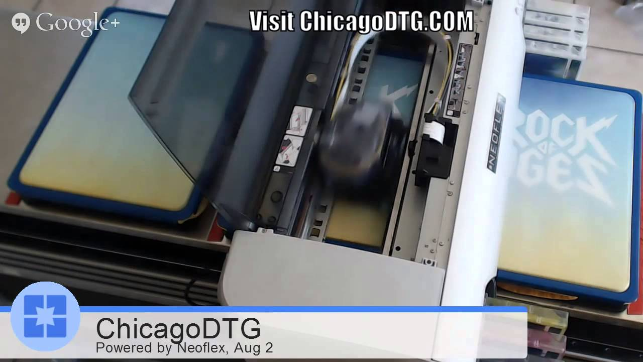 Chicago Dtg Same Day T Shirt Printing Youtube