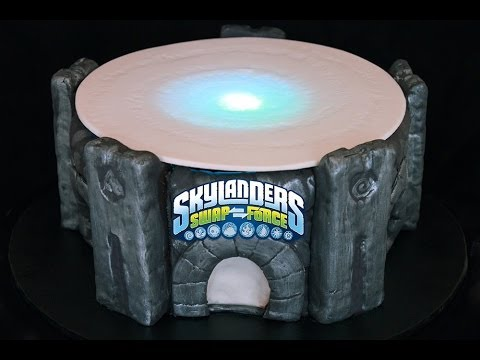 Light Up Skylanders Cake Make a Skylanders Swap Force Portal of