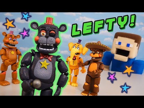 Five Nights at Freddy's LEFTY EXCLUSIVE Funko Fnaf Articulated Action Figure UNBOXING!