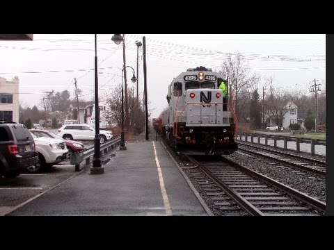 Two Freight Trains on the New Jersey Transit Boonton Line