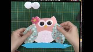Convite de aniversário coruja – 2da parte
