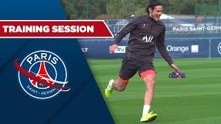 TRAINING SESSION with Edinson Cavani, Icardi