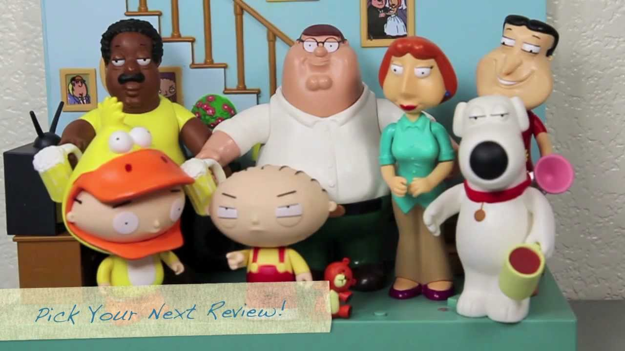 Family Guy Crazy Interactive World Playmates Toys Review