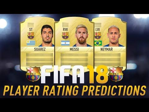 BUDE MESSI NAJLEPŠÍ HRÁČ VO FIFE 18?! FIFA 18 BARCELONA PLAYER RATING PREDICTIONS