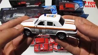 Відкриваю багато різних пожежних машинок модельок МНС. Розпакування та огляд.Про машинки.