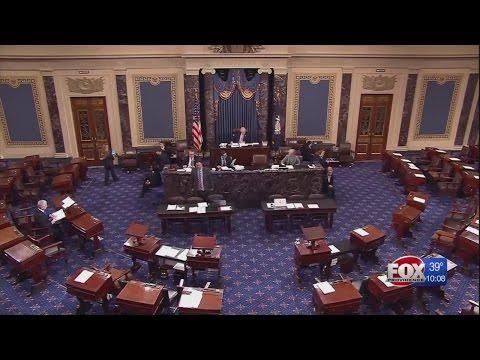 RI Senators participated in 24-hour Democrat hold of Senate floor before DeVos vote