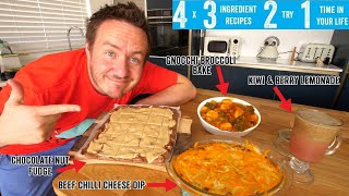 4 x 3 Ingredient recipes 2 try 1 time in your life! Part 14