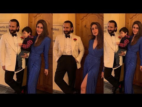 Kareena Kapoor Khan so happy with Son Taimur And hubby Saif Ali Khan for new years celebrations