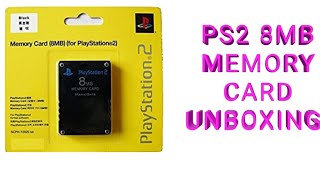 unboxing ps2 8mb memory card