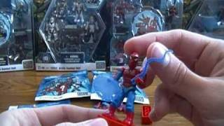 Opening 3 Marvel Mega Blocks Miniature Mini Figures Mystery Packs