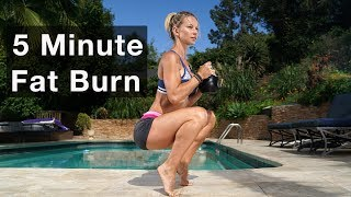 5 Minute Fat Burning Workout #129 - Kettlebell Training