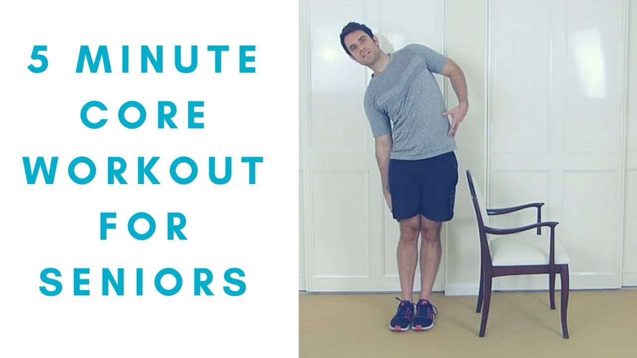 Simple Core Exercises For Seniors At Home More Life Health Youtube