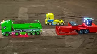 RC tractor and truck pulling! BIG FUN in 1:32 scale at Hof-Mohr!