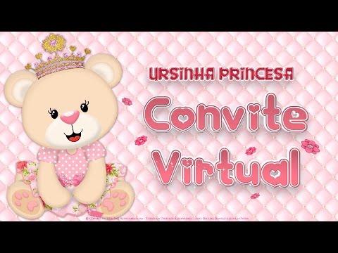 Convite Virtual Ursinha Princesa