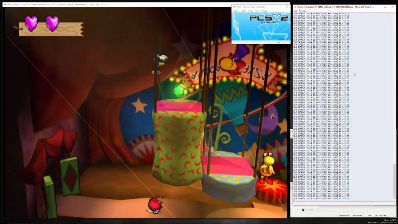Klonoa 2 currently working on pcsx2 -dev- 1 5 0 2155  - Klonoa 2