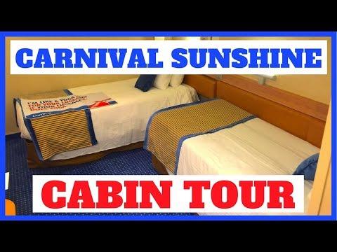 Carnival Sunshine Interior Stateroom Tour (2018)