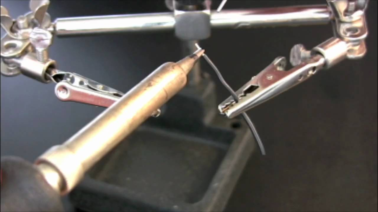 Basic Soldering: Two wires, crossed - YouTube