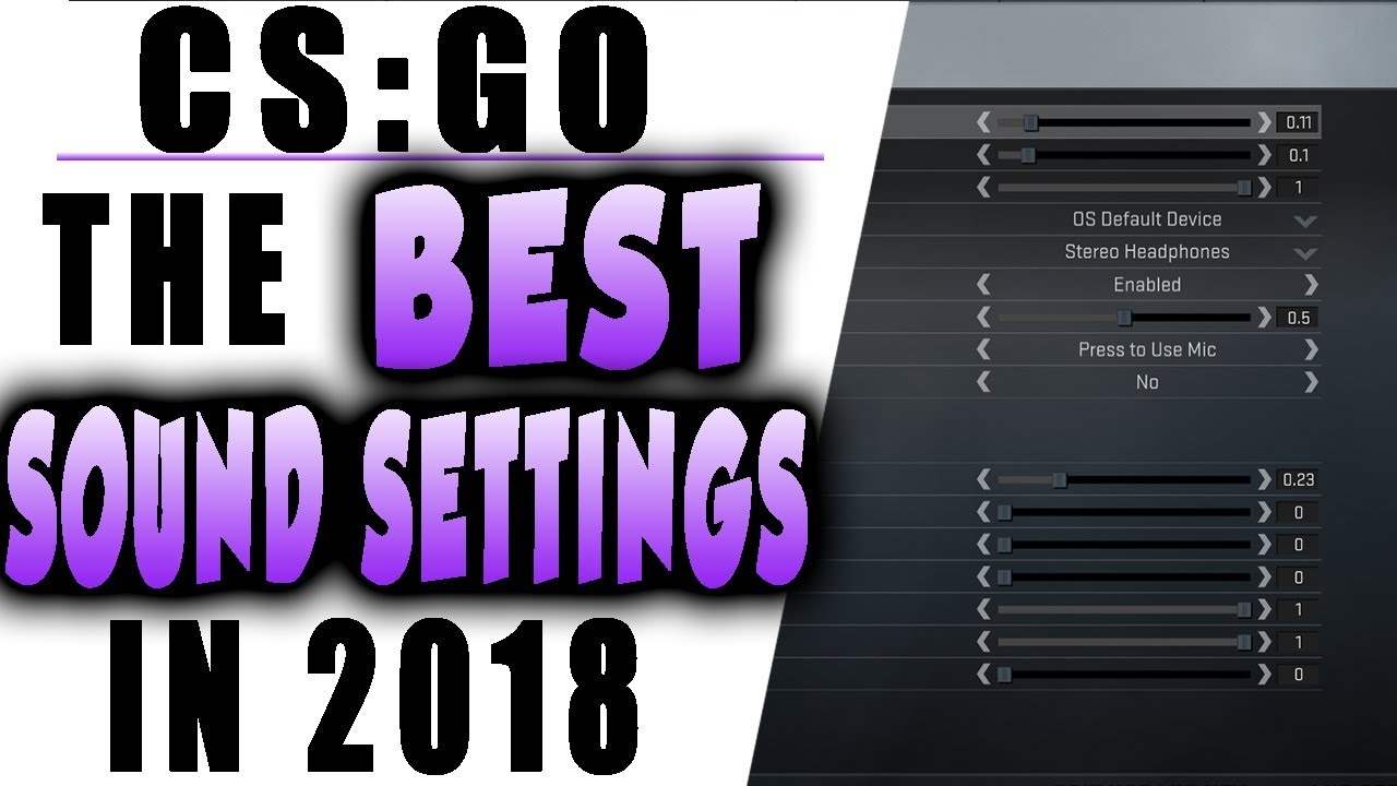 THE BEST SOUND SETTINGS in CS:GO