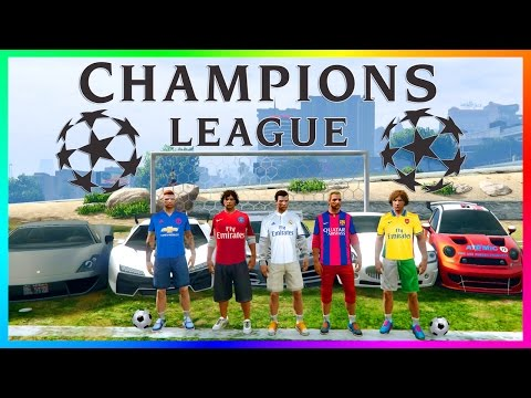 RONALDO VS MESSI - GTA ONLINE CHAMPIONS LEAGUE BEST FOOTBALLERS - BARCELONA, REAL MADRID & MORE!