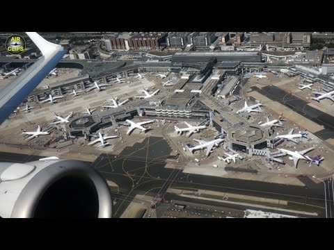 STUNNING Frankfurt Airport views: Embraer 190 Lufthansa CityLine CAVOK Takeoff to Wroclaw [AirClips]