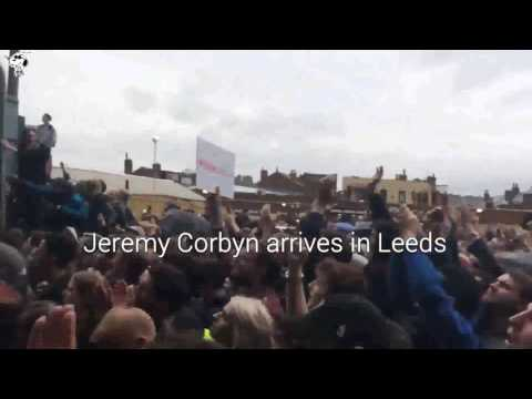 #GE2017 Jeremy Corbyn speaks at a huge rally in Leeds #ForTheManyNotTheFew