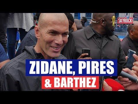 Zidane, Barthez & Pirès au micro de Mehdi !