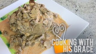 Baked Potato Beef Stroganoff - Cooking With His Grace