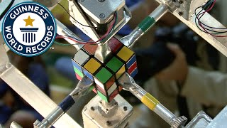 fastest robot to solve a rubik s cube guinness world records