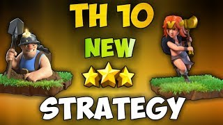 MINER + VALKYRIE | Th10 New 3 Stars War Attack Strategy | Clash Of Clans