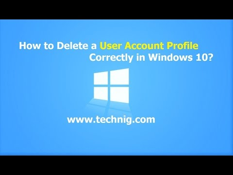delete user profile on windows 10