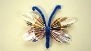 Geldgeschenke Basteln Geldschein Falten Schmetterling Geschenk