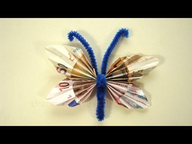 Geldscheine Falten Schmetterling Fur Geldgeschenke Clipfail Com