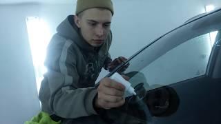 Ремонт скола на лобовом стекле (весь процесс)