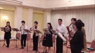 小鳥コーダーアンサンブル@退職者を送る会 水上の音楽 第2組曲第2曲『...