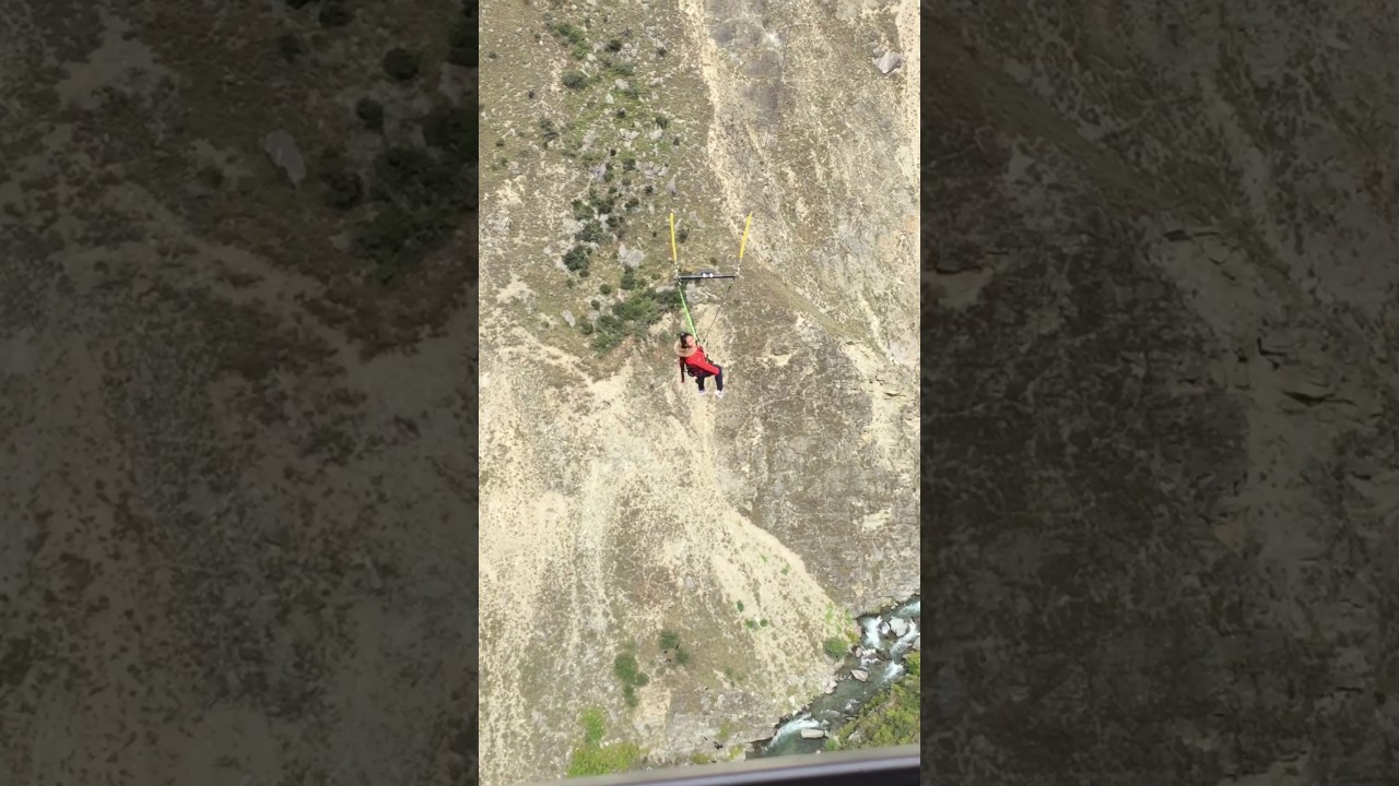 Girl Swings On A Crazy 300 Metre Canyon Swing Worlds
