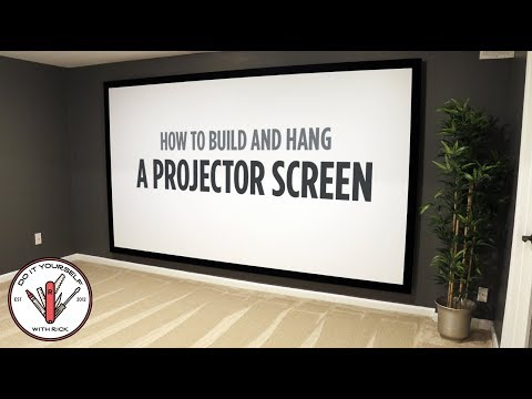 Superieur How To Build And Hang A 144 Inch Projector Screen : DIY