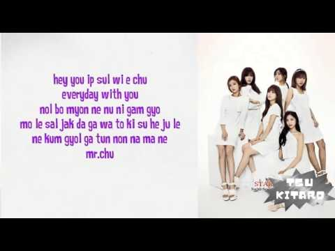 Apink - Mr.Chu lyrics (easy lyrics)