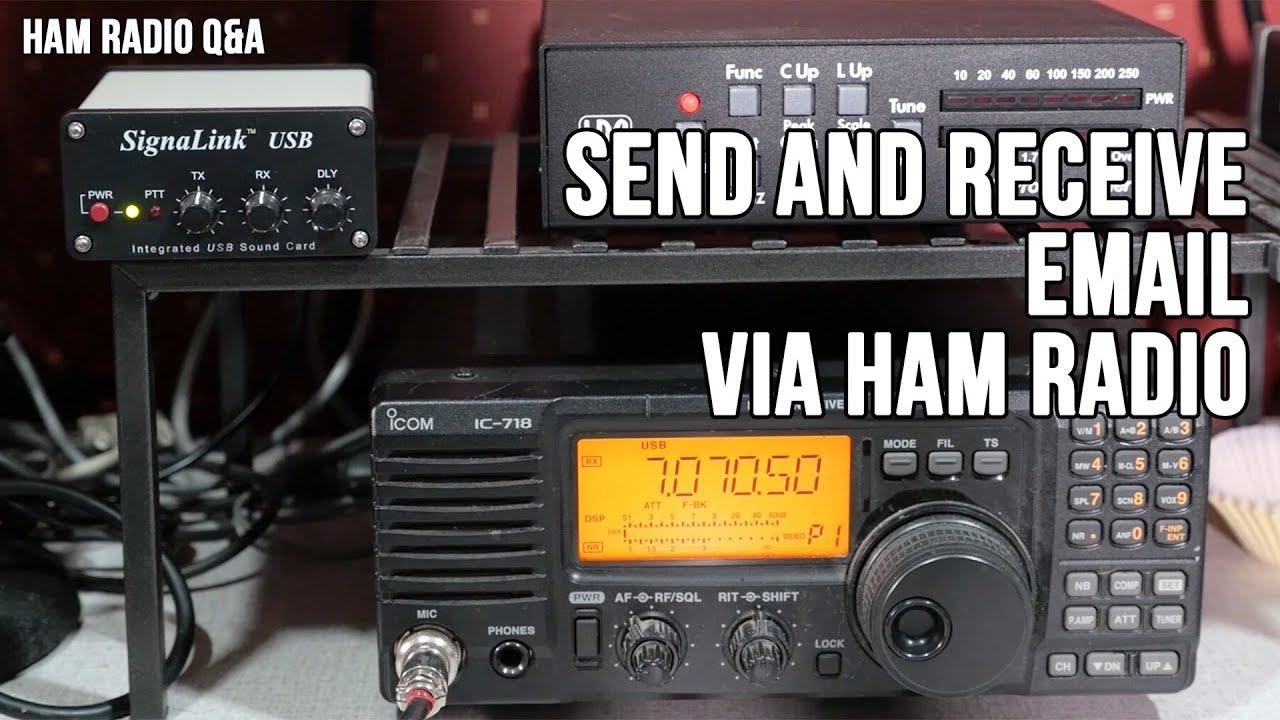 Sending email via HF: Winlink Winmor Protocol Demo - Ham Radio Q&A