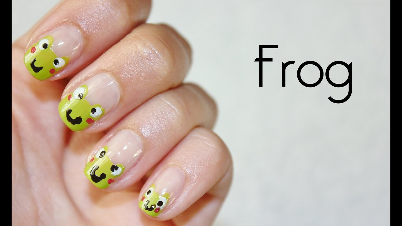 Tuto nail art cute frog grenouille youtube tuto nail art cute frog grenouille prinsesfo Choice Image