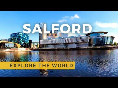 🇬🇧 Walking In MediaCityUK In Salford, Greater Manchester, UK