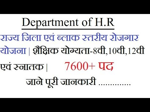 और्वेदा विभाग में आई भर्ती  Latest Vacancy In Government Sector |H.R Department 2018 | Sarkari Naukr