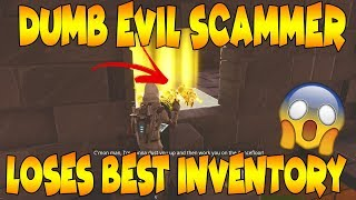 Dumb Evil Kid Loses Whole Inventory! (Scammer Get Scammed) Fortnite Save The World