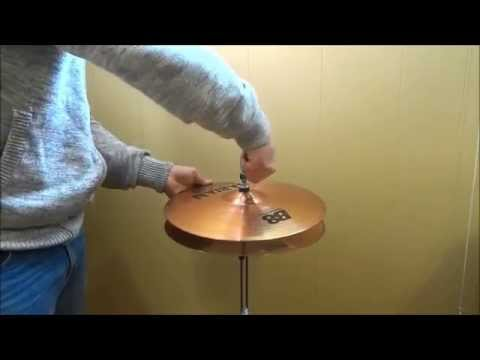 How To Mount Hi-Hat Cymbals On A Stand-Setting Up A Drumset