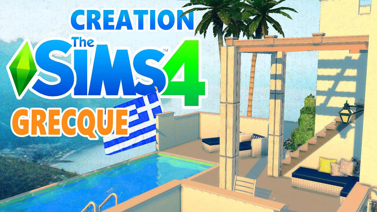 D co co sims4 maison grecque youtube for Decoration maison de famille
