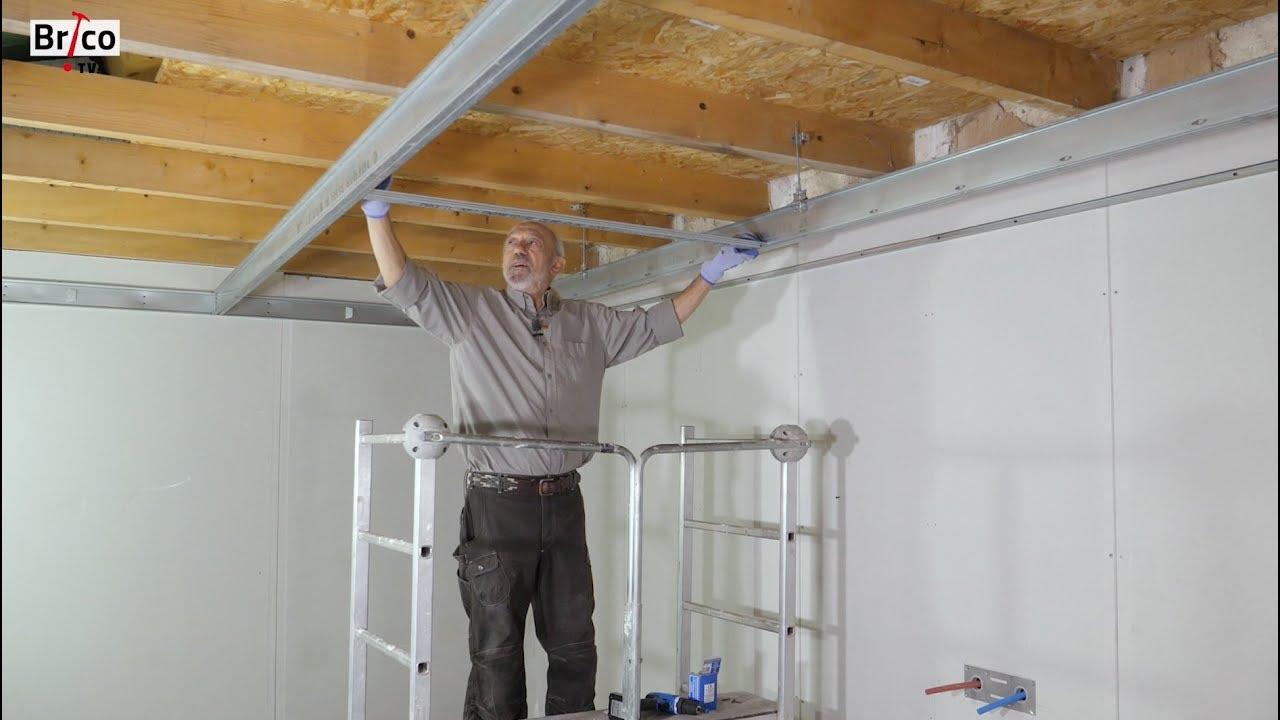 Installer Un Plafond Suspendu Avec Une Ossature Facile à Poser Tuto