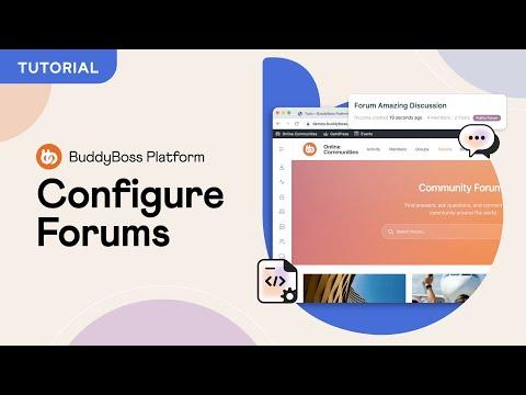 Forum Settings | BuddyBoss Platform