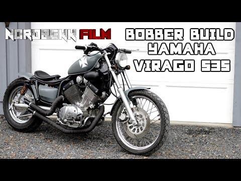 BOBBER BUILD - Yamaha Virago 535 bobber project [HD]